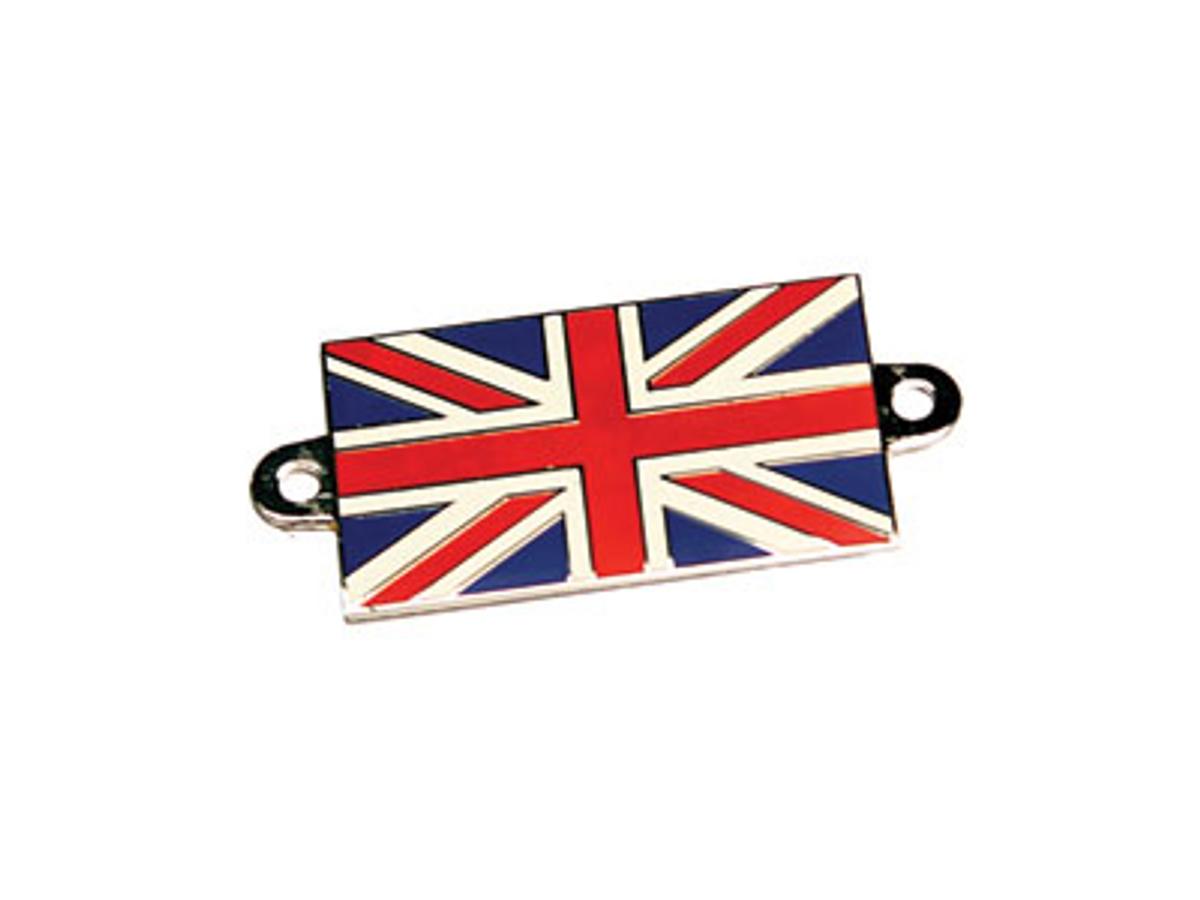 Emblem - Union Jack, emaljert